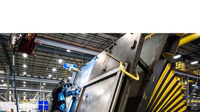 Dan Cole captures intricate hand welding on the factory floor of our Manufacturing Solutions facility in Fort Worth, Texas, where the most efficient heavy-haul locomotives in North America are built.