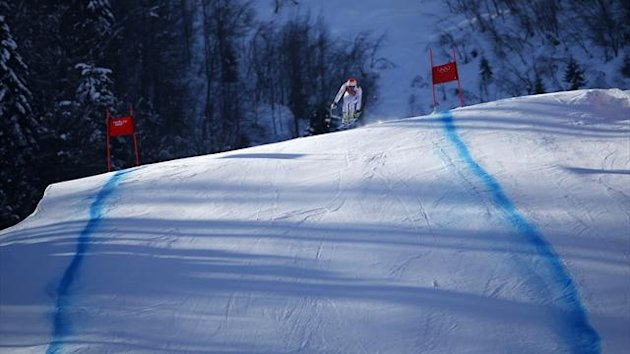 The downhill skiing course at Sochi