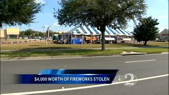 $4,000 worth of fireworks stolen