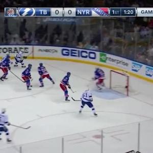 Henrik Lundqvist Save on Alex Killorn (18:42/1st)