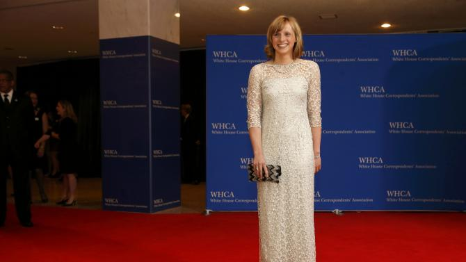 U.S. Olympic gold medalist swimmer Katie Ledecky arrives for the annual White House Correspondents' Association dinner in Washington