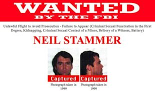 The poster announcing Stammer's capture (FBI)