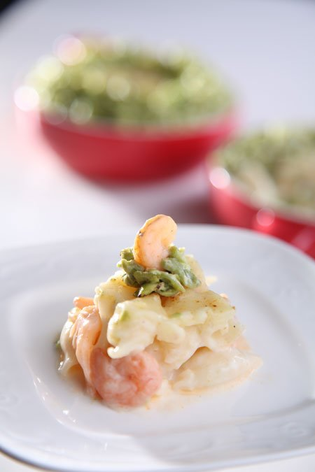 Shrimps with Bechamel sauce