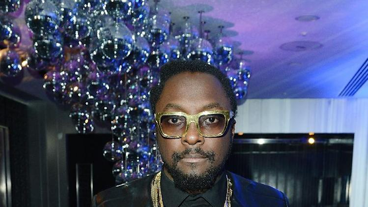 Will.i.am seen at The Premiere of Intel & W Hotels' Four Stories on Tuesday, Nov. 27, 2012, W Hotel, London. (Photo by Jon Furniss/Invision for Intel/AP Images)
