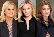 Amy Poehler, Kelli Giddish, Ellen Pompeo | Photo Credits: Danny Feld/NBC; Art Streiber/NBC; Ron Tom/ABC