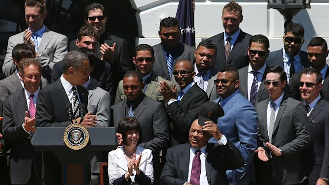 Obama Welcomes MLB Champion San Francisco Giants To The White House