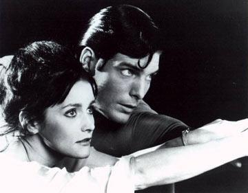 Christopher Reeve and Margot Kidder in Warner Brothers' Superman: The Movie