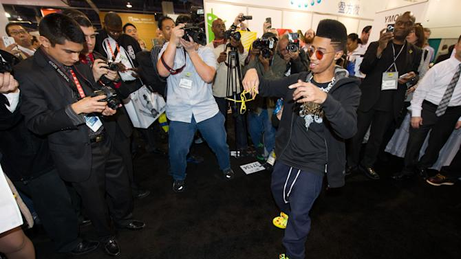 "Hip hop artist, ""Lil Twist"" seen at International CES 2013, on Thursday, January 10, 2013 in Las Vegas, NV for the debut of his new headphone collection ""Twist Swag Headphones by Nikura USA (Photo by Al Powers of Powers Imagery/Invision for Nikura USA/AP Images)"