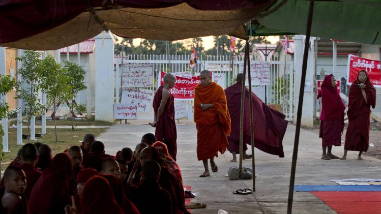 Myanmar cracks down on mine protest; dozens hurt