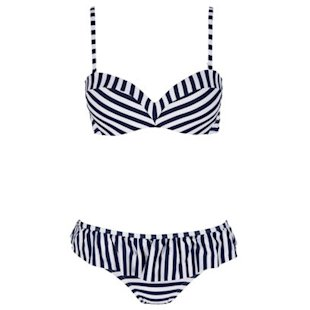 Navy Striped Bikini Next