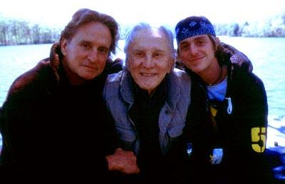 Michael Douglas , Kirk Douglas and Cameron Douglas in MGM's It Runs In The Family