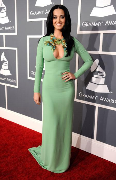 Katy Perry attends the 55th Annual GRAMMY Awards at STAPLES Center on February 10, 2013 in Los Angeles, California. (Photo by Kevin Mazur/WireImage)