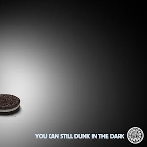 This image provided by Oreo's on Sunday, Feb. 3, 2013, shows the image the company's marketers tweeted some 10 minutes after the power went out during the Super Bowl XLVII football game. When a blackout hit and the lights went out in the stadium early in the third quarter of Super Bowl XLVII, Oreo was prepared to create instant social media content because the cookie maker and its digital agency 360i had been working on a campaign for Oreo's 100th anniversary. The campaign featured a different ad every day that responded to news events for 100 days. (AP Photo/Oreo's )