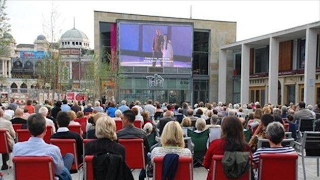 Bradford Centenary Square - image courtesy of London2012.com