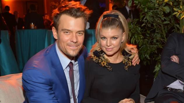 Josh Duhamel (L) and actress/singer Fergie attend the premiere of Relativity Media's 'Safe Haven' after party at The Terrace At Hollywood & Highland on February 5, 2013 -- Getty Images
