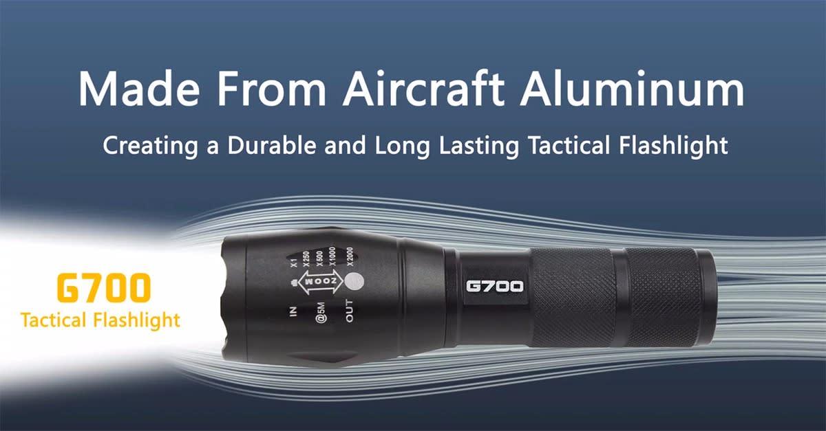 G700 Tactical Flashlight, Coolest Flashlight Ever?