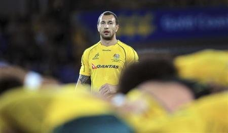 Australia's Cooper during Rugby Championship match against Argentina at Skilled Park, Gold Coast