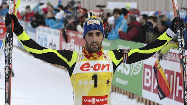 Biathlon - Fourcade completes clean sweep in Ruhpolding