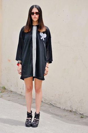 The Black T-Shirt Dress Reigns Supreme