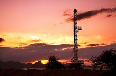 Undated handout shows an oil rig used in drilling at the Ngamia-1 well on Block 10BB, in the Lokichar basin, which is part of the East African Rift System, in Turkana County
