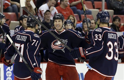 Blue Jackets finish home-and-home sweep of Wings