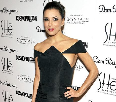 Eva Longoria Flashes Sideboob in Tight Black Cutout Dress: Picture