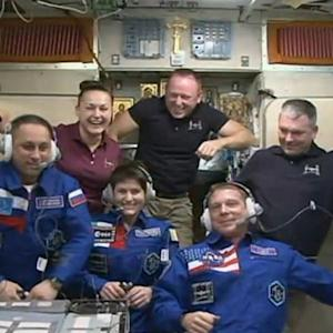 NEW CREW AT INTERNATIONAL SPACE STATION