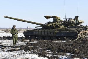 In this Wednesday, Jan. 14, 2015 photo Russian-backed…