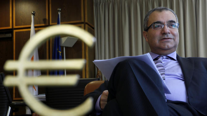 Cypriot central bank chief rules out debt haircut