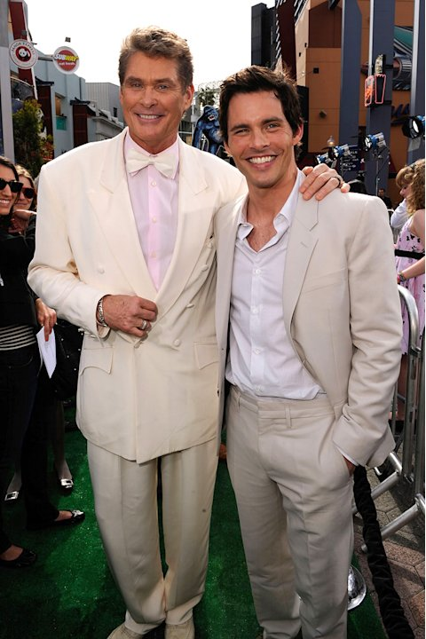 Hop LA Premiere 2011 David Hasselhoff James Marsden