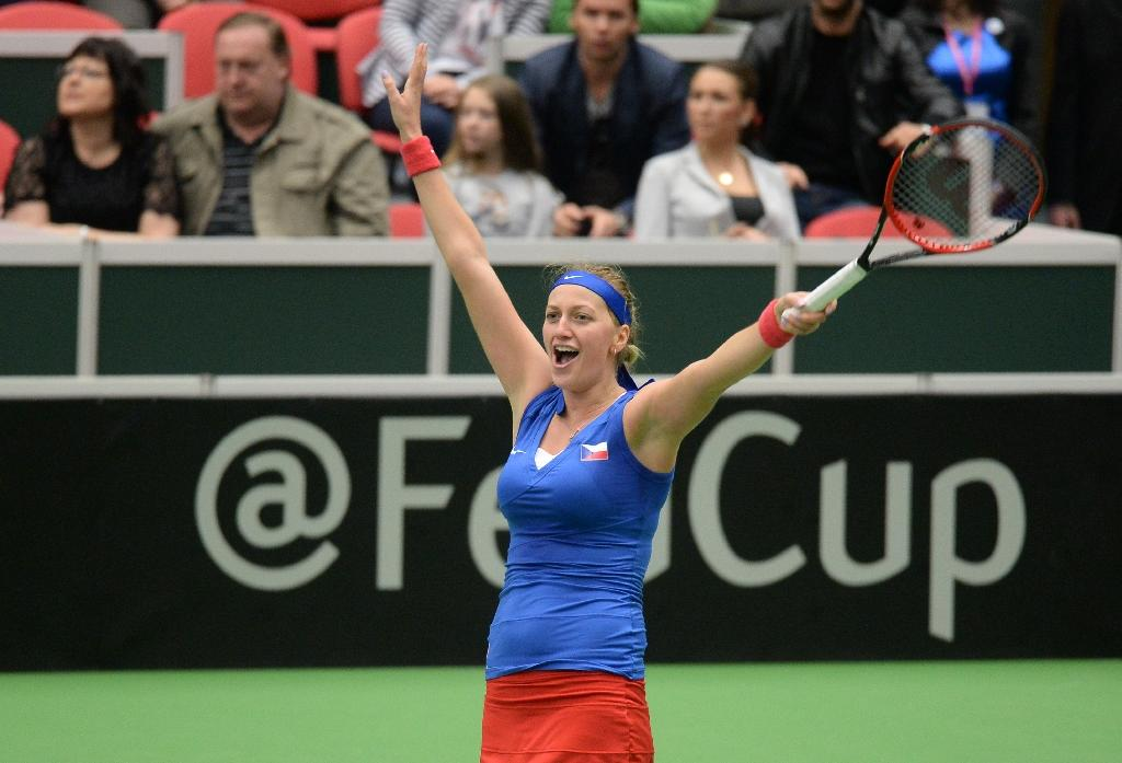 Kvitova fires Czechs past France, into Fed Cup final