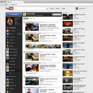 FILE - This file image of a screen grab provided by Google Inc. on  Dec. 1, 2011 shows the YouTube website. A new study finds that YouTube is emerging as a major platform for news, one to which viewers increasingly turn for eyewitness videos in times of major events and natural disasters. (AP Photo/Google Inc., File)