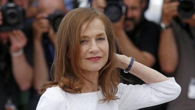 """Cast member Isabelle Huppert poses during a photocall for the film """"Valley of Love"""" in competition at the 68th Cannes Film Festival in Cannes,"""