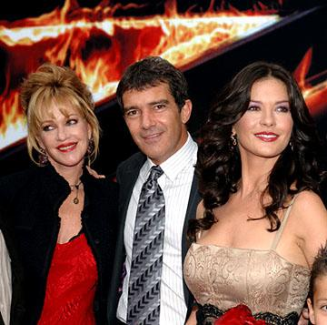 Melanie Griffith , Antonio Banderas and Catherine Zeta-Jones at the LA premiere of Columbia Pictures' The Legend of Zorro