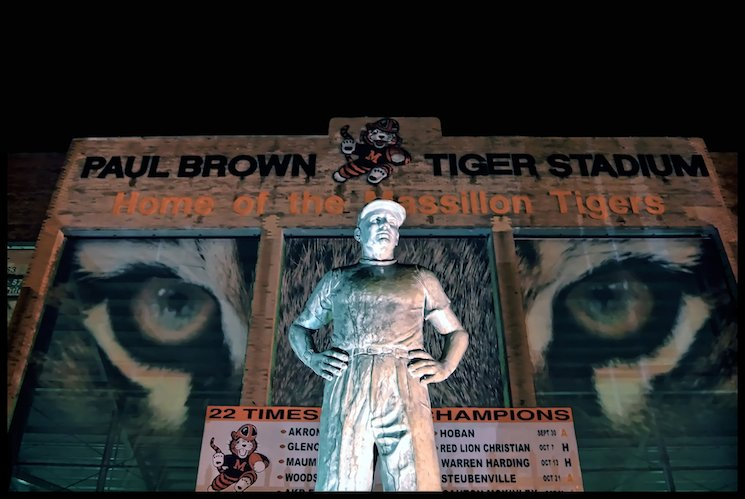 An exterior statue is just one homage to the legendary Paul Brown at Tiger Stadium — Wikipedia