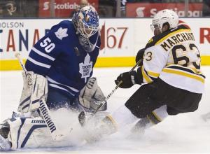 Caron, Seguin lead Bruins past Maple Leafs, 5-4