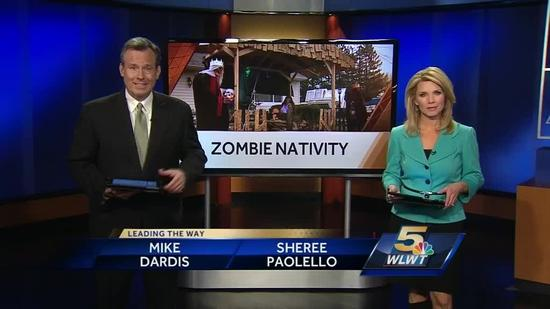 Officials order Ohio man to take down zombie Nativity scene