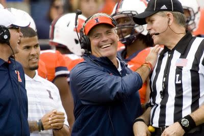 Illinois' Tim Beckman explains Big Ten challenges and his mom's birthday