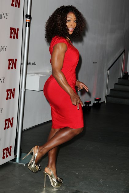 Tennis star and designer Serena Williams poses at the 25th Annual Footwear News Achievement Awards, Tuesday, Nov. 29, 2011, at The Museum of Modern Art in New York.  (AP Photo/Starpix, Amanda Schwab)