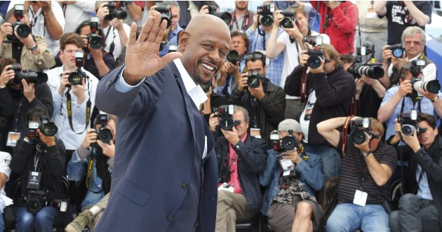 "Cast member Forest Whitaker poses during a photocall for the film ""Zulu"" at the 66th Cannes Film Festival"