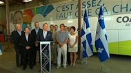 C&#39;est  Qubec que le chef de la Coalition avenir Qubec(CAQ), Franois Legault, a dvoil le slogan de sa campagne lectorale: C&#39;est assez, faut que a change!