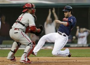 Raburn has 4 hits as Indians beat Phillies 6-0