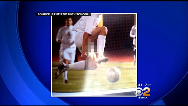 Yearbook Soccer Player Accidentally Exposed