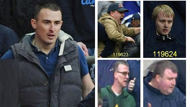 Five of the 17 people being sought by police
