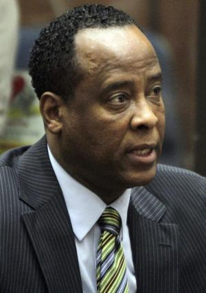 "FILE - In this Jan. 25, 2011 file photo, Dr. Conrad Murray, singer Michael Jackson's personal physician, appears in Los Angeles Superior Court where Murray pleaded not guilty to a charge of involuntary manslaughter in the pop star's 2009  death. Sony Pictures asked a judge Friday to quash a subpoena requiring it to produce footage from Jackson's film ""This Is It"" because a defense attorney said earlier this week the footage showed Jackson was mostly healthy and called the effort ""a big waste of time."" (AP Photo/Irfan Khan, File)"