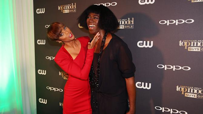 IMAGE DISTRIBUTED FOR OPPO - Tyra Banks, left, and J. Alexander pose together at the America's Next Top Model Cycle 22 premiere party in Los Angeles on Tuesday, July 28, 2015.  OPPO, a leading global smartphone brand, is featured throughout ANTM's cycle 22 set to air August 5 on the CW network. (Photo by Matt Sayles/Invision for OPPO/AP Images)