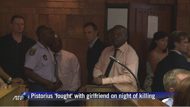 Pistorius allegedly 'fought' on night of killing