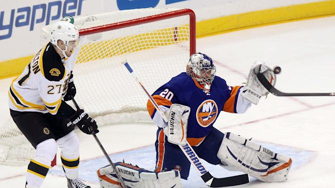 NHL: Boston Bruins at New York Islanders