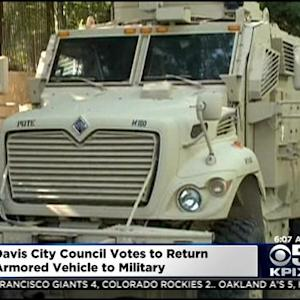 Davis Police Return Armored Police Vehicle To Military