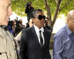 Janet Jackson arrives for the second day of the preliminary hearing for Dr Conrad Murray in Los Angeles on January 5, 2011 -- Getty Images
